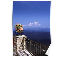 Flowers, Sea & Sky Poster