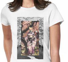 Kitsune Portrait  Womens Fitted T-Shirt