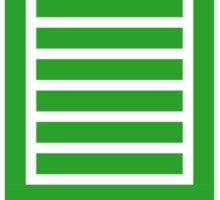 Full Stack Developer - Design for Web Developers Green Font Sticker