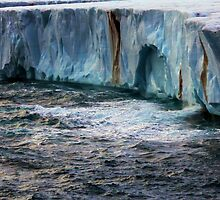 The Brasvellbreen Glacier by John Dalkin