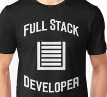 Full Stack Developer - Design for Web Developers White Font Unisex T-Shirt