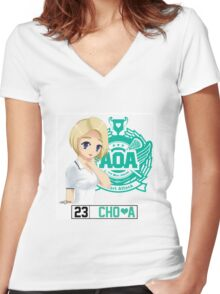 AOA Choa (Heart Attack) Women's Fitted V-Neck T-Shirt