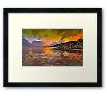 """""""Fiery Rocks"""" Framed Print"""