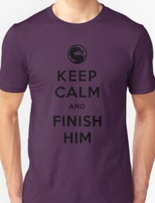 Keep Calm and Finish Him (clean version light colors) T-Shirt