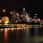 Melbourne at Night by Fincher Trist