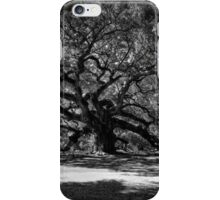 Angel Oak 001 BW iPhone Case/Skin