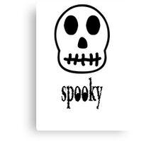 Spooky Skeleton Canvas Print