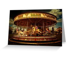 Golden Gallop Greeting Card