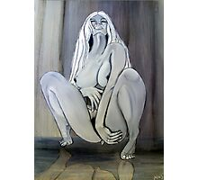 Nude Crouching Photographic Print