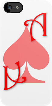Ace of Spades card - Red by Guilherme Bermêo
