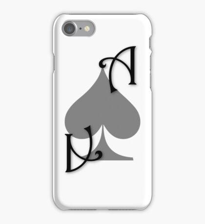 Ace of Spades card - Black iPhone Case/Skin