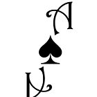Ace of Spades card smaller - Black by Guilherme Bermêo