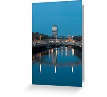Dublin at night Greeting Card
