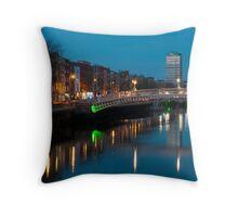 Dublin at night Throw Pillow