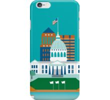 St. Louis, Missouri - Skyline Illustration by Loose Petals iPhone Case/Skin