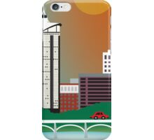 Tulsa, Oklahoma - Skyline Illustration by Loose Petals iPhone Case/Skin