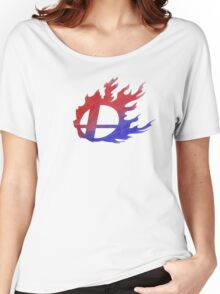 Smash Bros Flames Women's Relaxed Fit T-Shirt