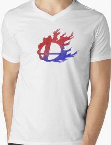 Smash Bros Flames Mens V-Neck T-Shirt