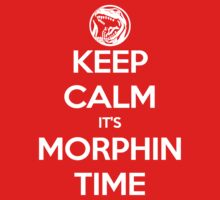 Keep Calm It's Morphin Time (Red) Kids Clothes