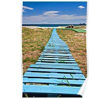 improvised boardwalk Poster