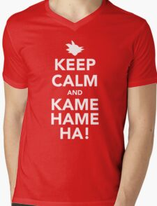 Keep Calm and Kamehameha! Mens V-Neck T-Shirt