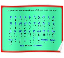 The Braille Alphabet. Poster