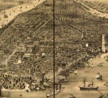 Panoramic Maps The city of New York1 Sticker