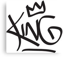 King Tag Canvas Print