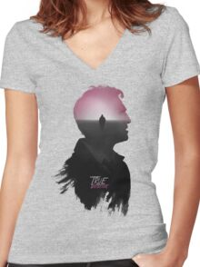 True Detective 'Cohle' Tee Women's Fitted V-Neck T-Shirt