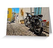 royal enfield in greece Greeting Card