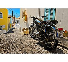 royal enfield in greece Photographic Print