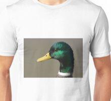Portrait of Mallard Duck Drake Unisex T-Shirt