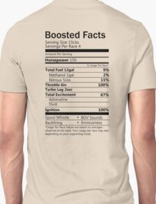 Boosted Facts - Transparent background Unisex T-Shirt