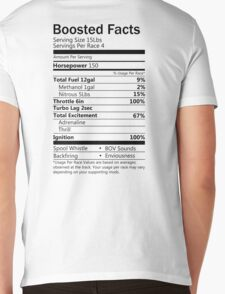 Boosted Facts - Transparent background Mens V-Neck T-Shirt