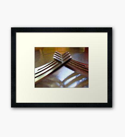 friendly forks..... Framed Print