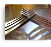 friendly forks..... Metal Print