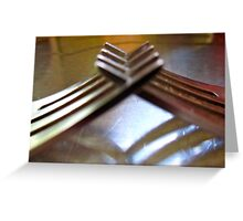 friendly forks..... Greeting Card