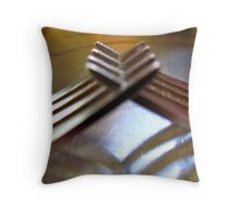 friendly forks..... Throw Pillow