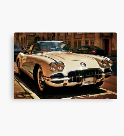 Corvette Chevrolet sketched Canvas Print