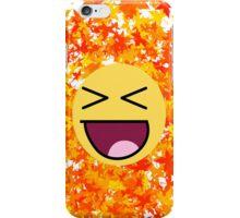 Happy Face In Autumn iPhone Case/Skin