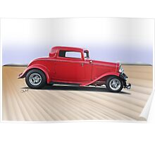 1932 Ford 'Dropped Top' Coupe II Poster