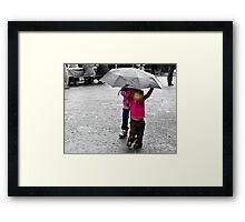 Rain Children Framed Print