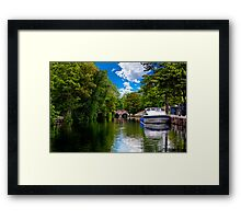 bishop's bridge and a boat Framed Print