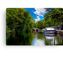 bishop's bridge and a boat Canvas Print