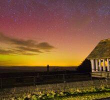 Aurora Borealis Northern Lights Over Nidderdale Yorkshire Dales 2581-A Sticker