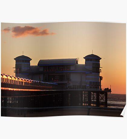 Weston-super-Mare New Pier  UK Poster