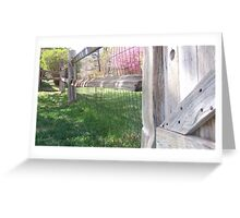 once upon a fence Greeting Card