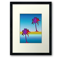 Miami Reflection Framed Print