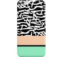 Simple Abstract Mint, Orange, & Brushstrokes iPhone Case/Skin