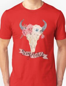 Stay Wild Boho Steer Unisex T-Shirt
